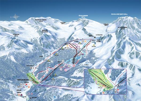 plan des pistes Ceillac en Queyras