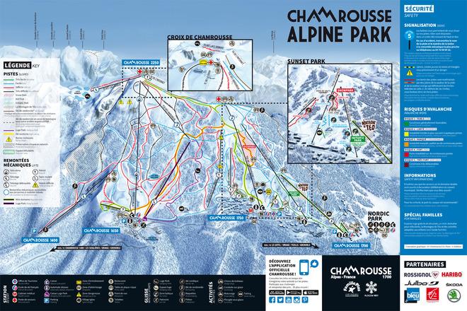 plan des pistes Chamrousse