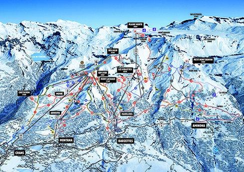 plan des pistes Crans Montana