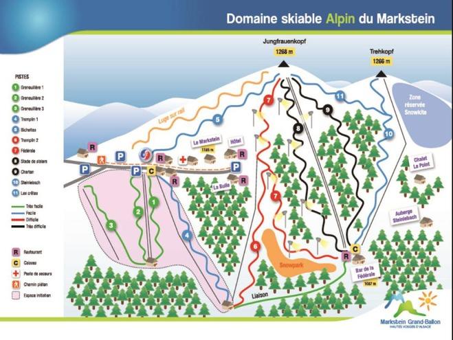 plan des pistes Le Markstein