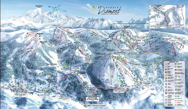 plan des pistes Flumet-St Nicolas La Chapelle