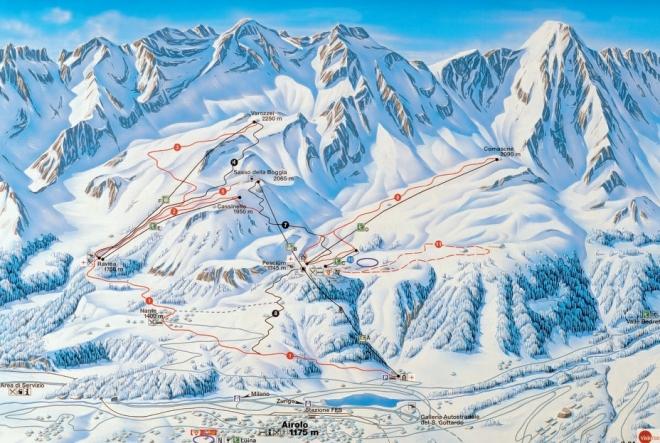 plan des pistes Airolo-Pesciüm