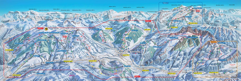 plan des pistes Gstaad