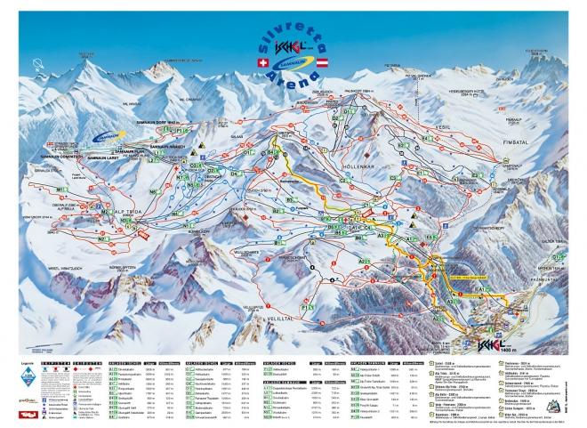 plan des pistes Ischgl