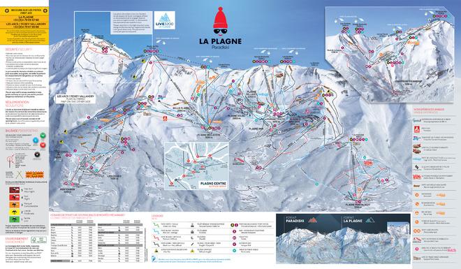 plan des pistes La Plagne