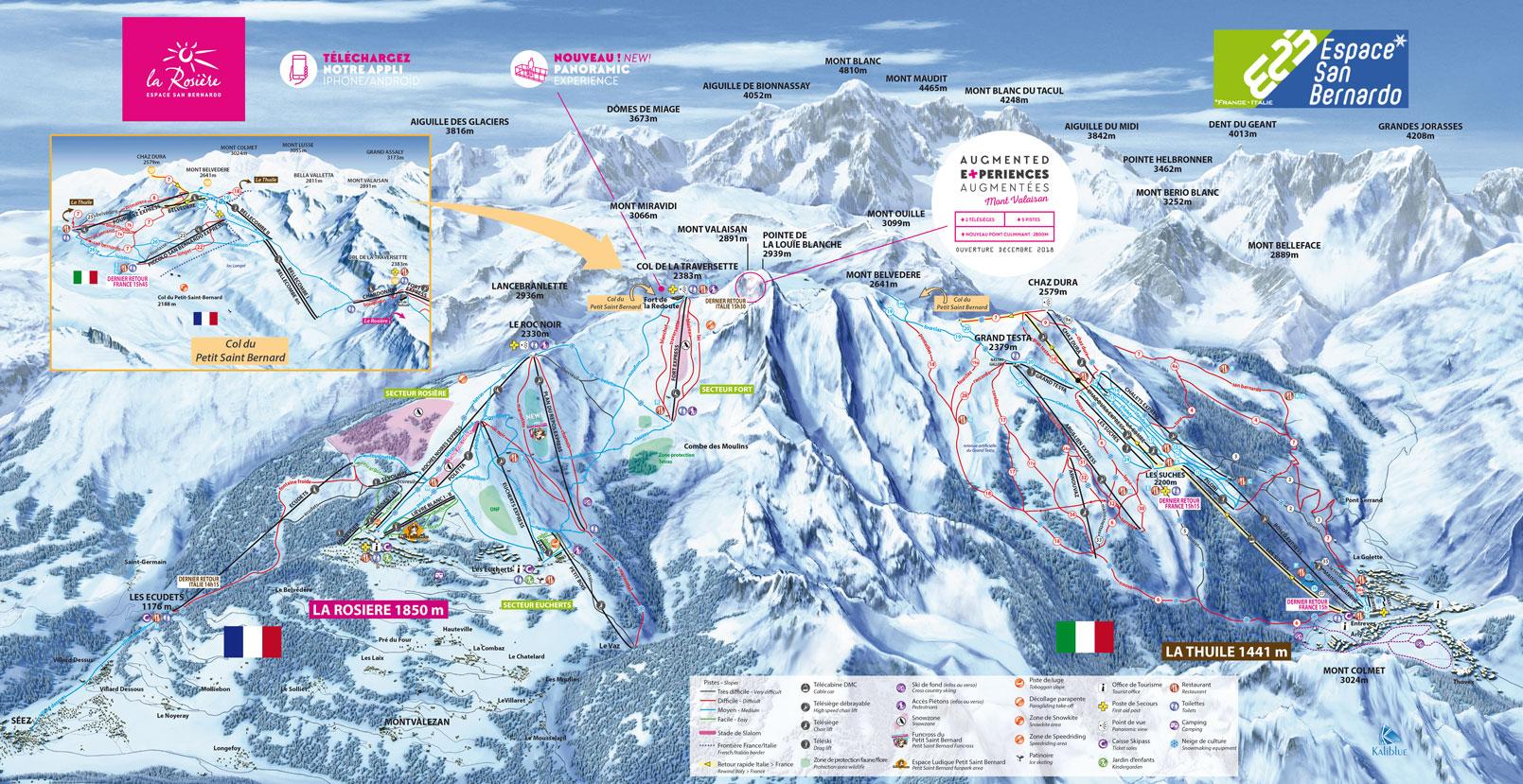 plan des pistes La Rosière