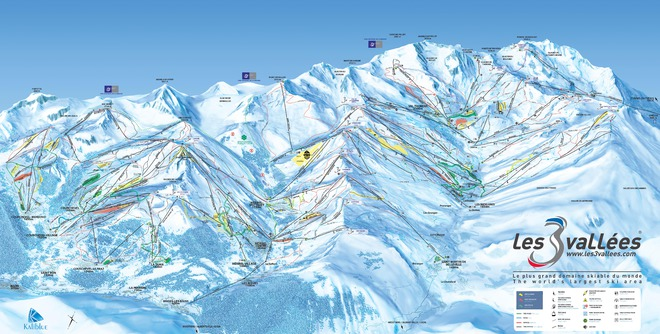 plan des pistes Courchevel - La Tania