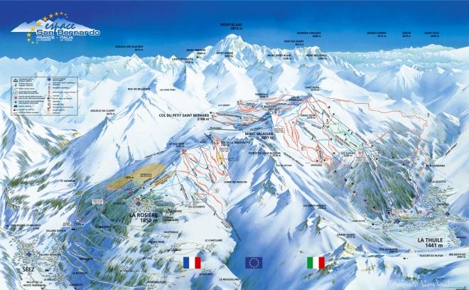 plan des pistes La Thuile