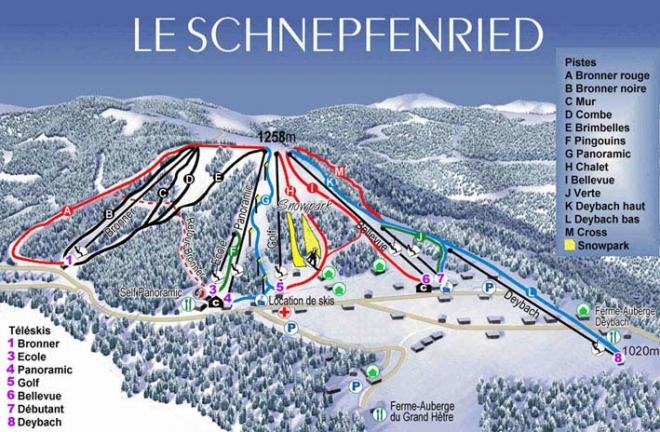 plan des pistes Schnepfenried