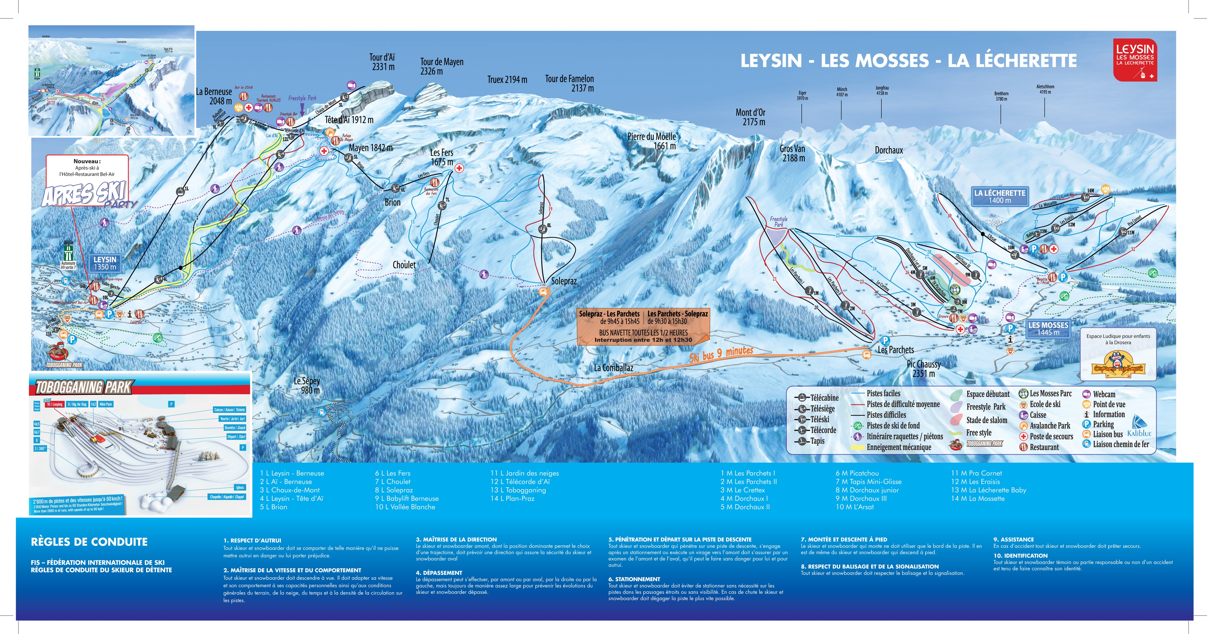 plan des pistes Leysin