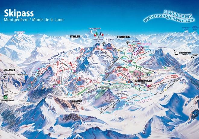 plan des pistes Montgenèvre