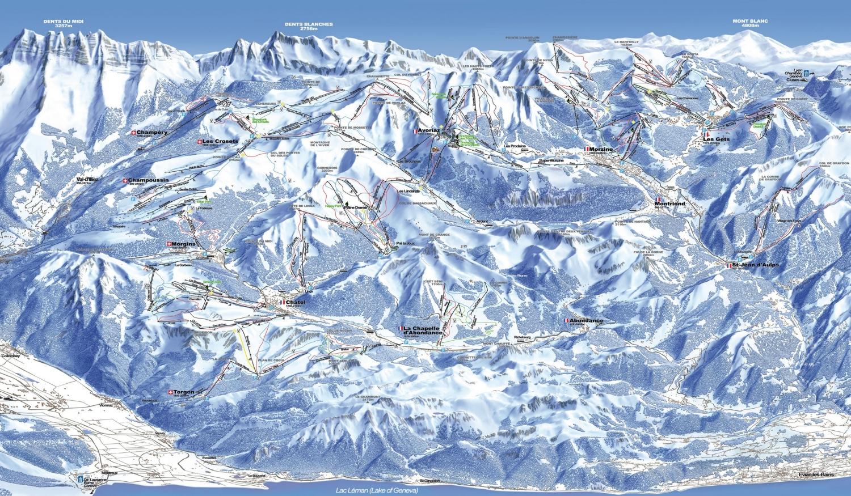 plan des pistes Morzine