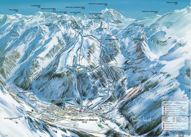 plan des pistes Pralognan la Vanoise