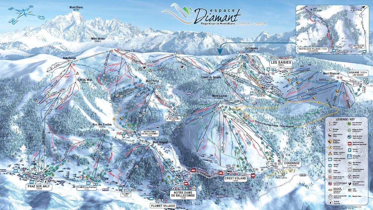 plan des pistes Praz-sur-Arly