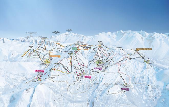 plan des pistes Saint Colomban des Villards