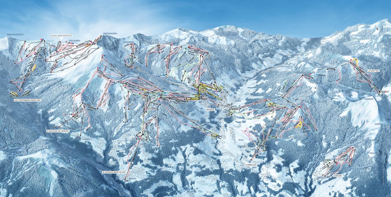 plan des pistes Saint Gervais-Mont Blanc