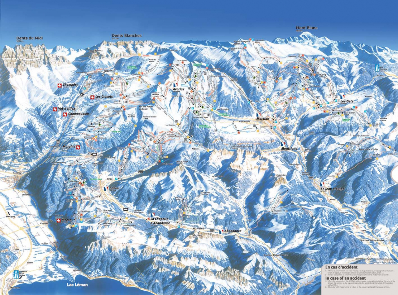 plan des pistes Torgon