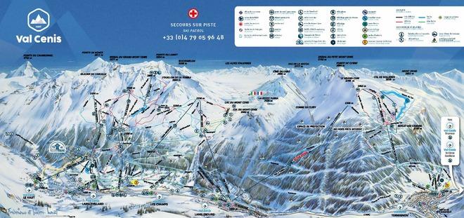 plan des pistes Val Cenis