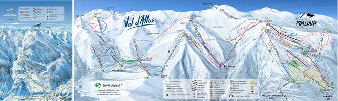 plan des pistes Val d'Allos
