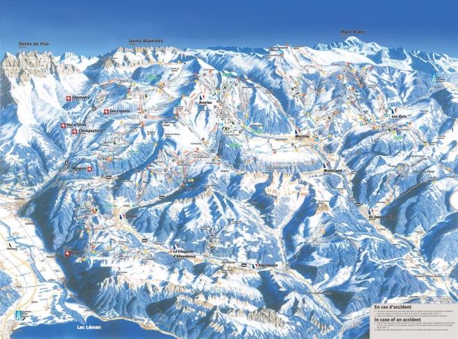 plan des pistes Val d'Illiez