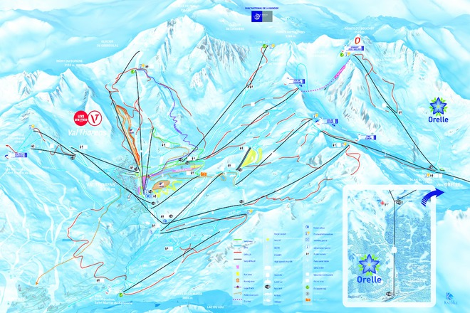 plan des pistes Val Thorens