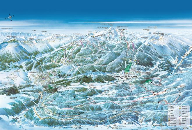 plan des pistes Villard de Lans