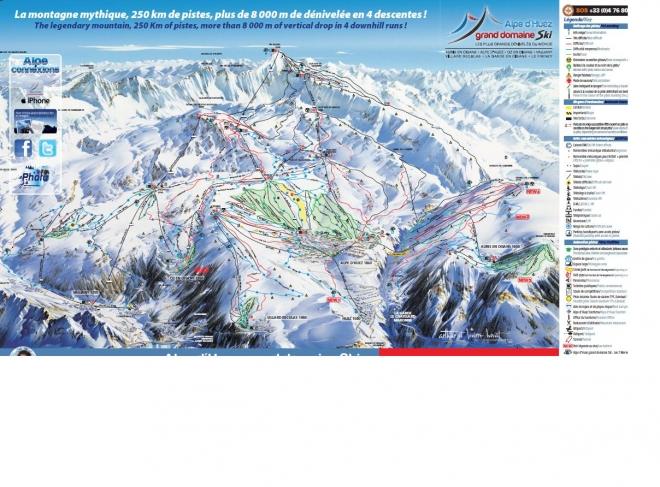 plan des pistes Villard Reculas
