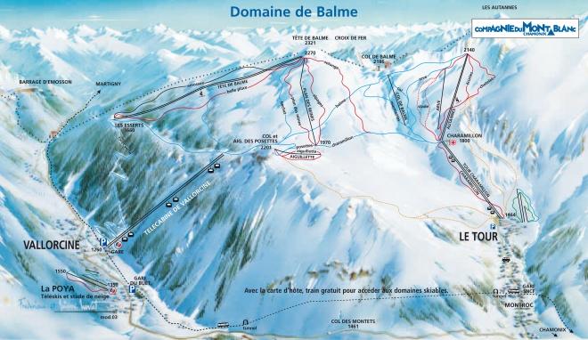 plan des pistes Vallorcine