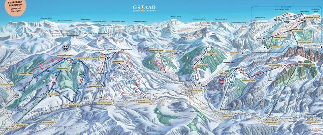 plan des pistes Rougemont